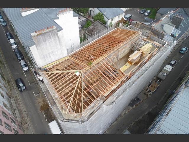 Réfection à neuf d'un grand immeuble dans le centre de brest