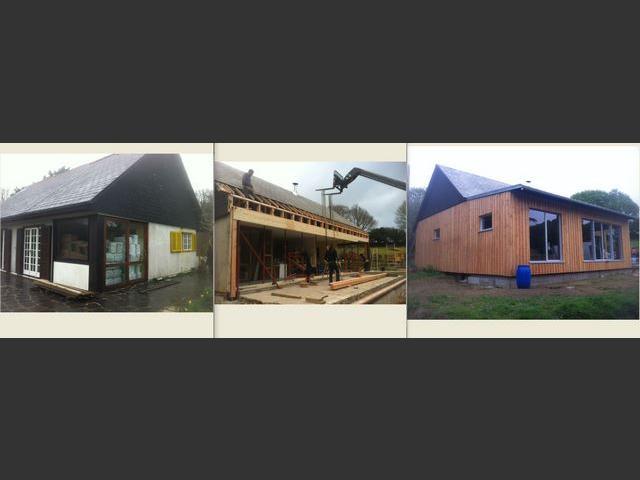 Ouverture d'une maison sur 13m avant extension et isolation par l'exterieur