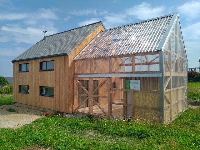 Maison et serre bioclimatique plouarzel 2021