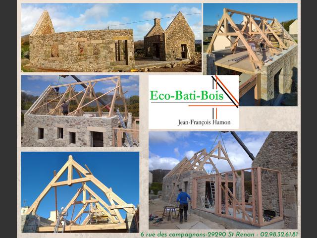 Rénovation totale de trois corps de ferme tout en charpente traditionelle